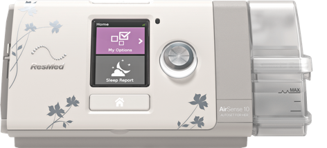 ResMed Airsense 10 For Her with custom faceplate and colors.