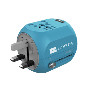 Lofta Universal Travel Adapter For US, AU, EU, UK, Asia Covers Over 150+ Countries