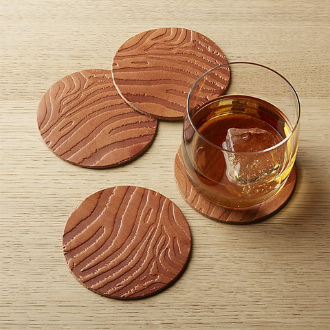 CB2 Leather Coasters