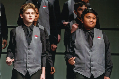 Chicago Children's Choir Vests by Stock Mfg. Co.