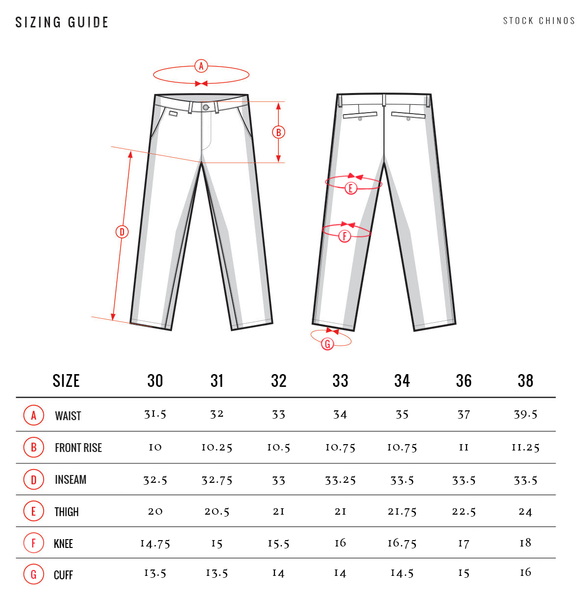 Stock Chinos - Made in Chicago, USA
