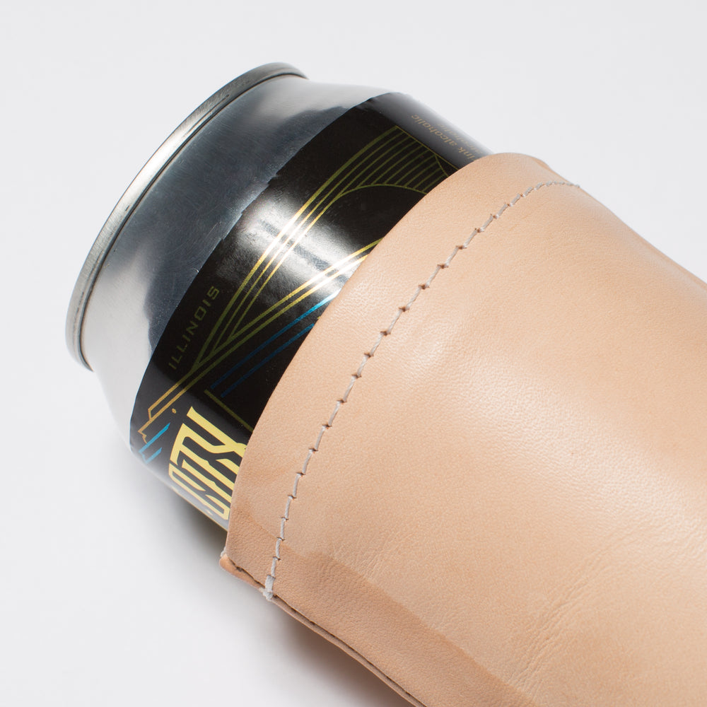 Natural Leather Beer Koozie