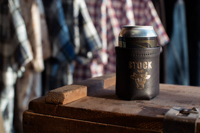Horween Leather Beer Koozie