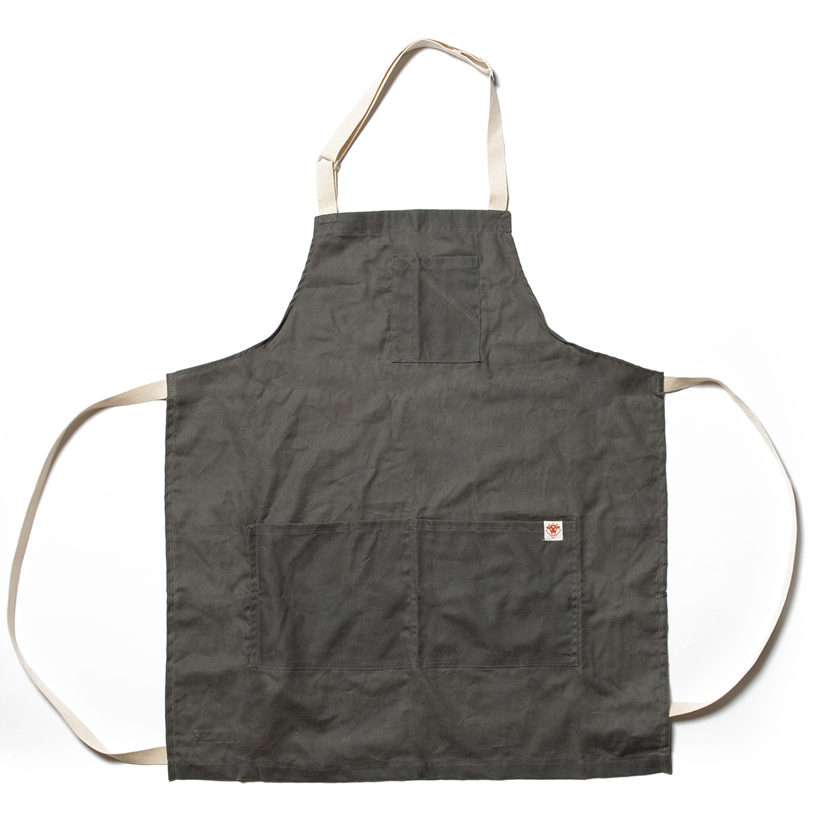 Charcoal Waxed Cotton Stock Apron