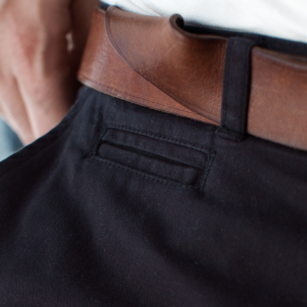Soho House Black Brushed Japanese Twill Chino