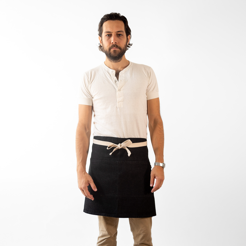Black Denim Waist Apron
