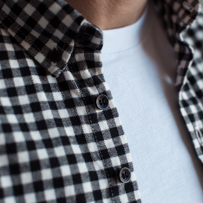 Black Gingham Flannel