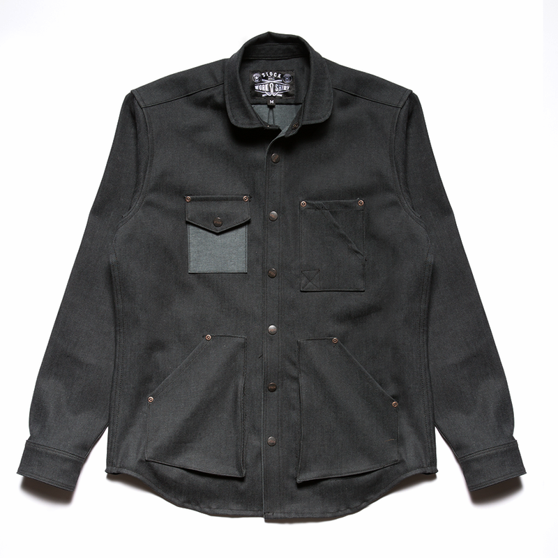 Black Denim Work Shirt