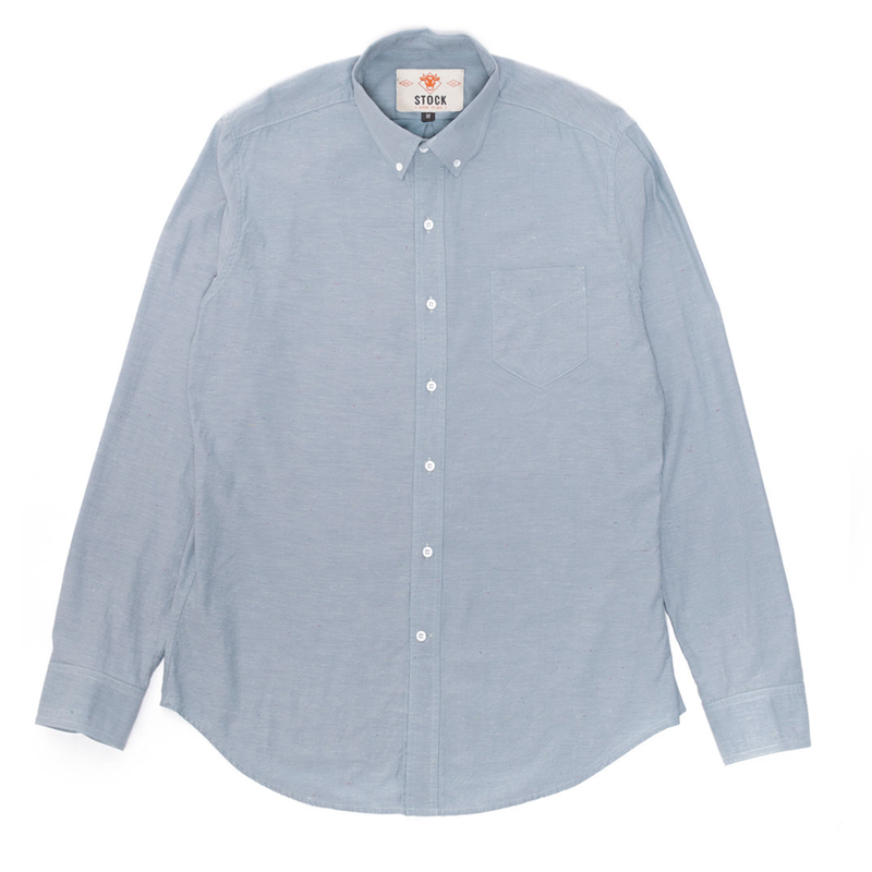 Blue Color Fleck Buttondown