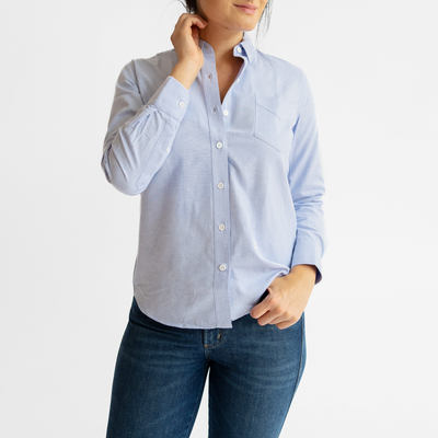 New Women's Blue Service Oxford