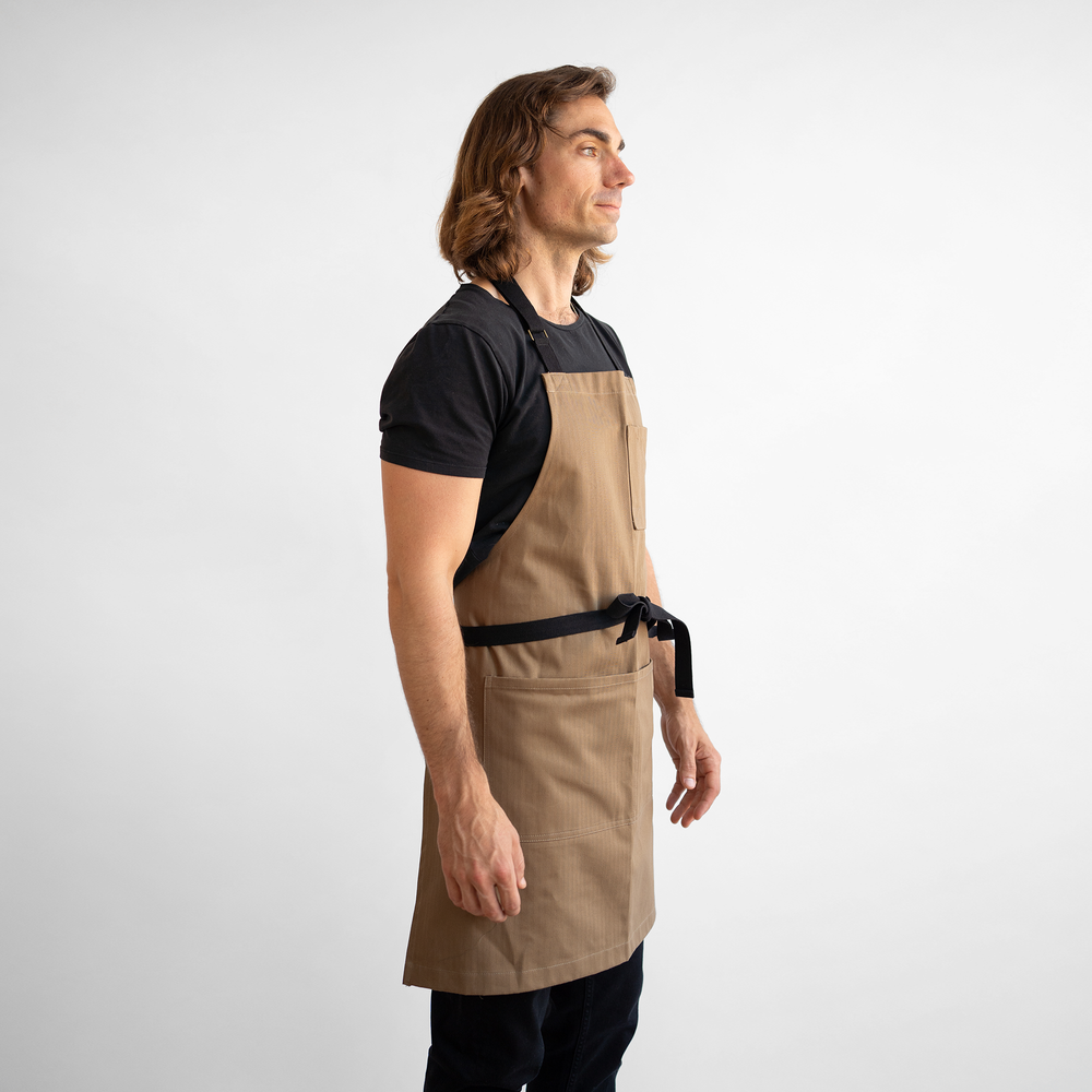 Coyote Herringbone Stock Apron