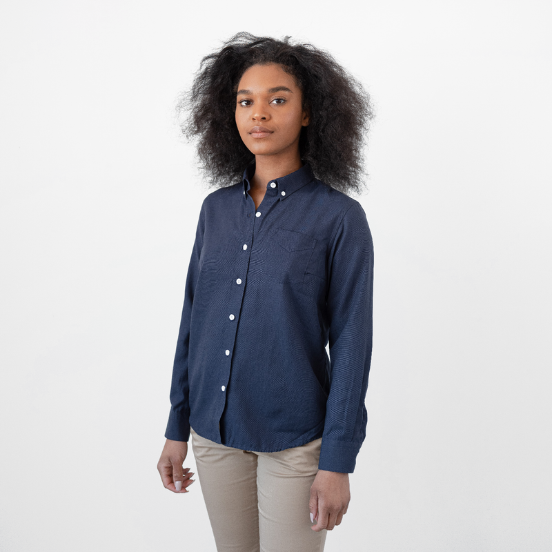 Women's Deep Indigo Service Oxford