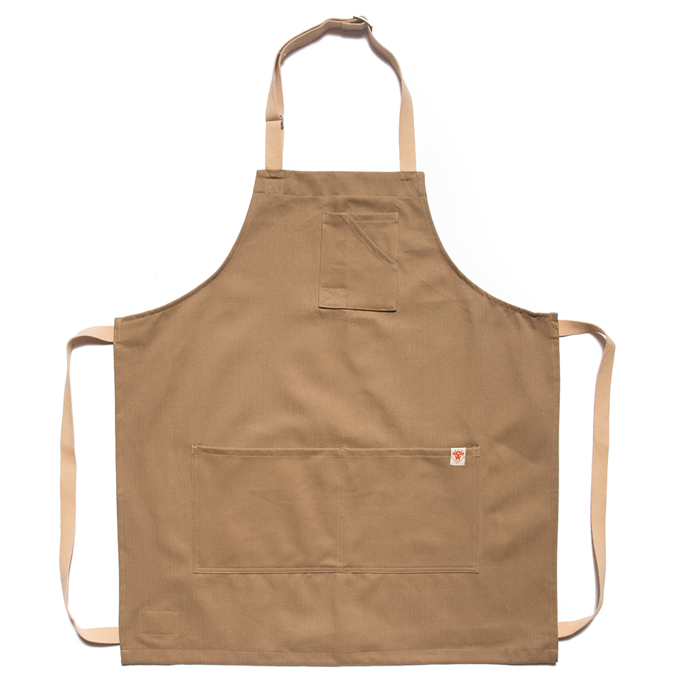 Earth Bull Denim Apron w/ Tan Straps