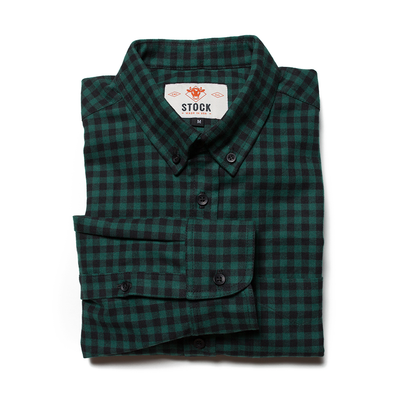 Forest Gingham Flannel