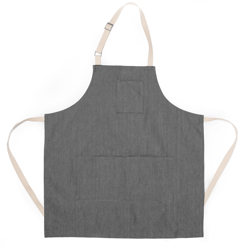 Gray Bull Denim Stock Apron