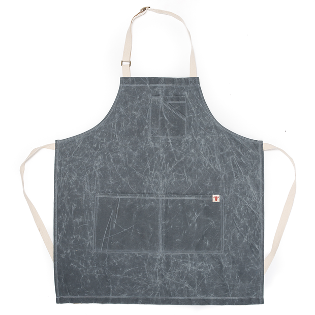 Slate Waxed Canvas Stock Apron