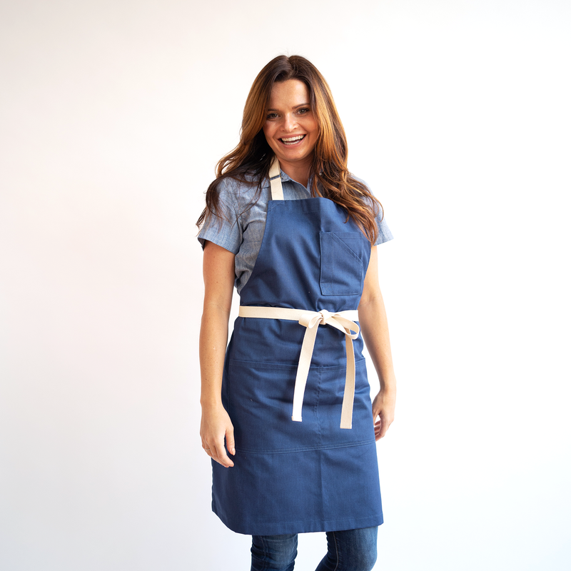 Heather Blue Stock Apron