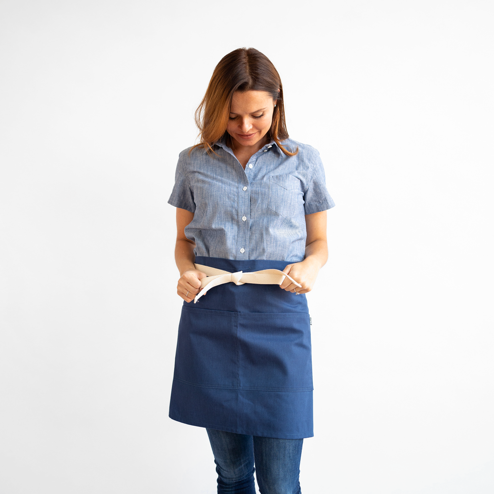 Heather Blue Waist Apron