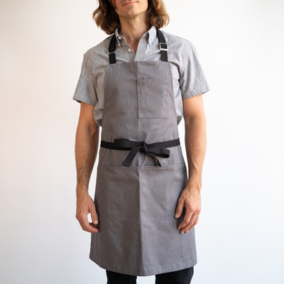 Heather Gray Stock Apron