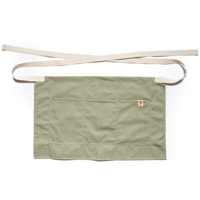 Heather Green Shorty Waist Apron