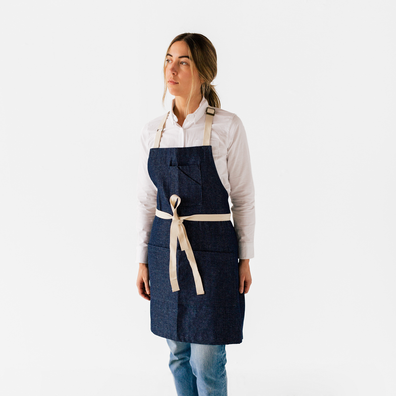 Indigo Denim Stock Apron