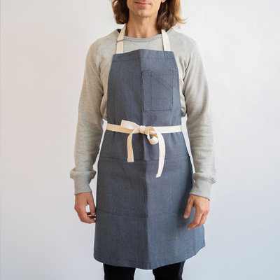 Japanese Ticking Stripe Stock Apron