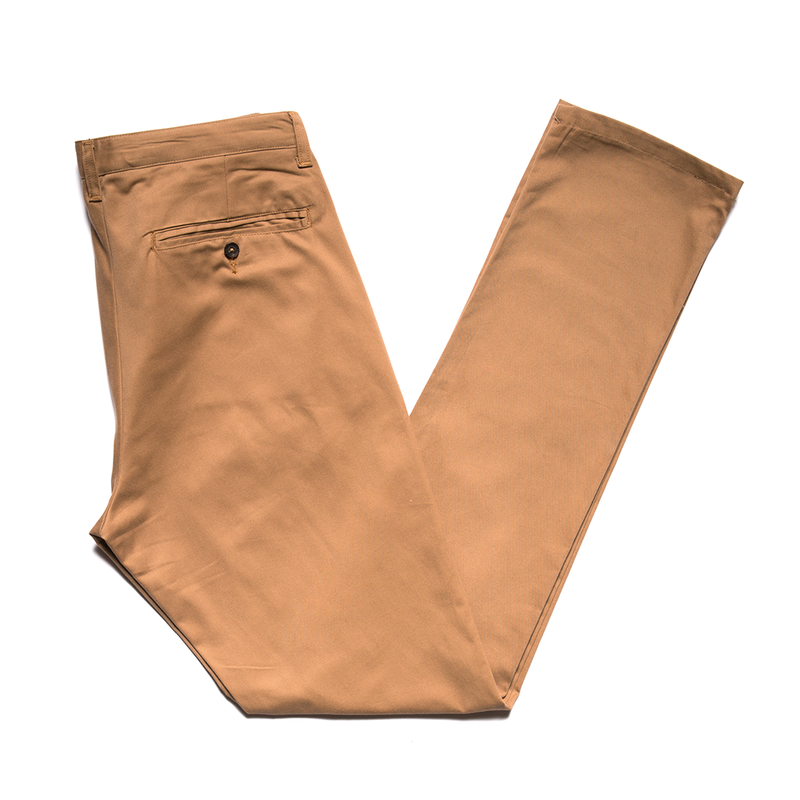 Khaki Brushed Japanese Twill Chino