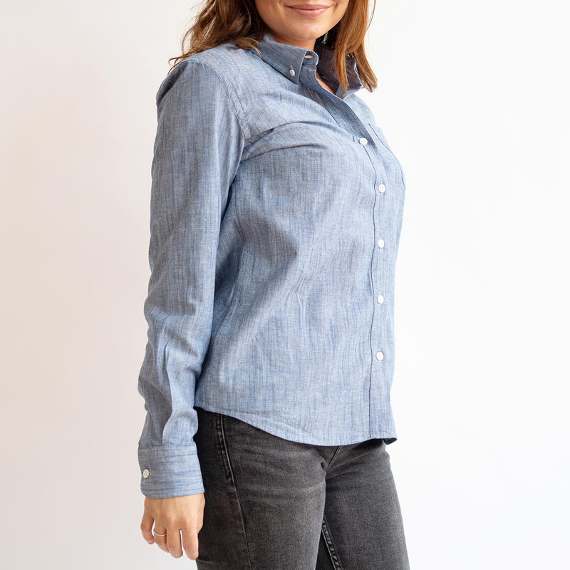 Women's Blue Stretch Service Chambray