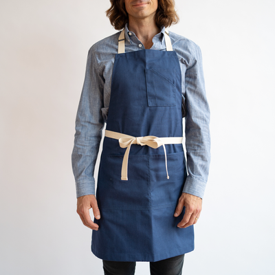 Mens Blue Stretch Service Chambray