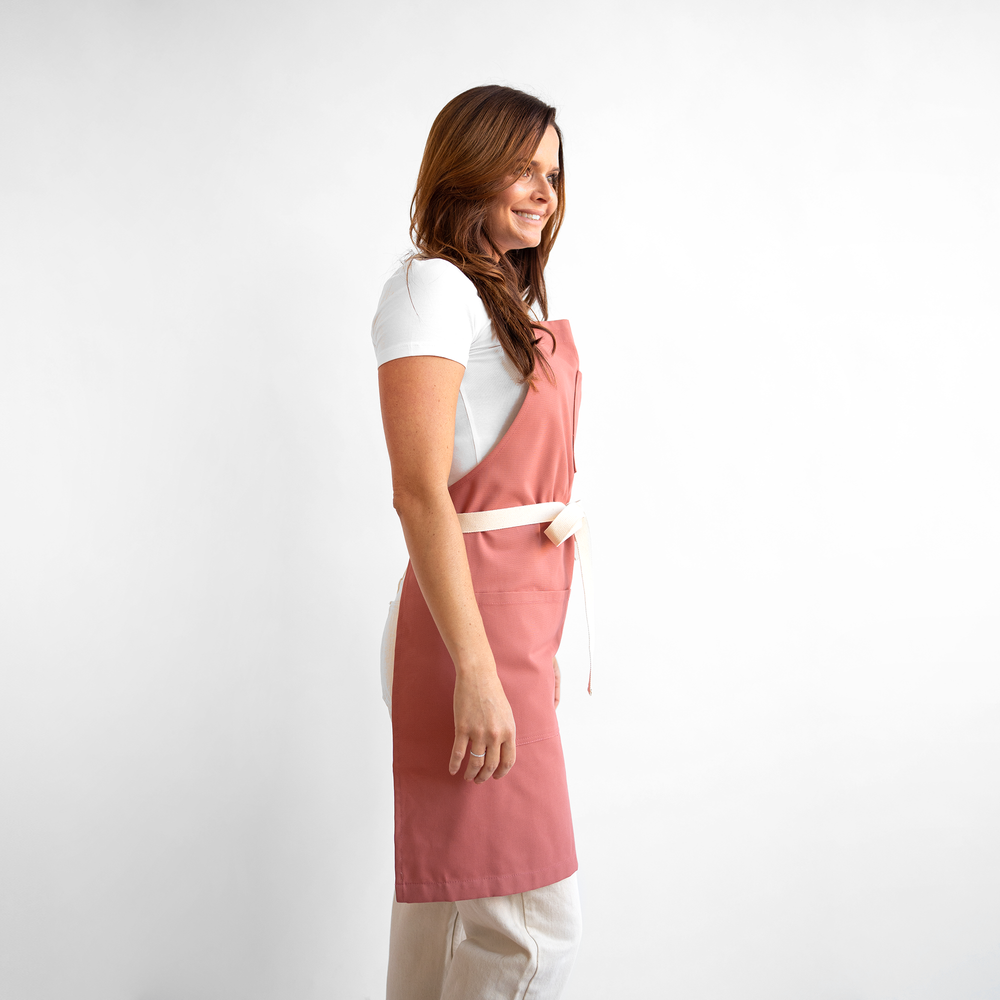 Dusty Red Canvas Stock Apron