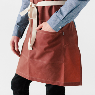 Nautical Red Waxed Canvas Stock Apron