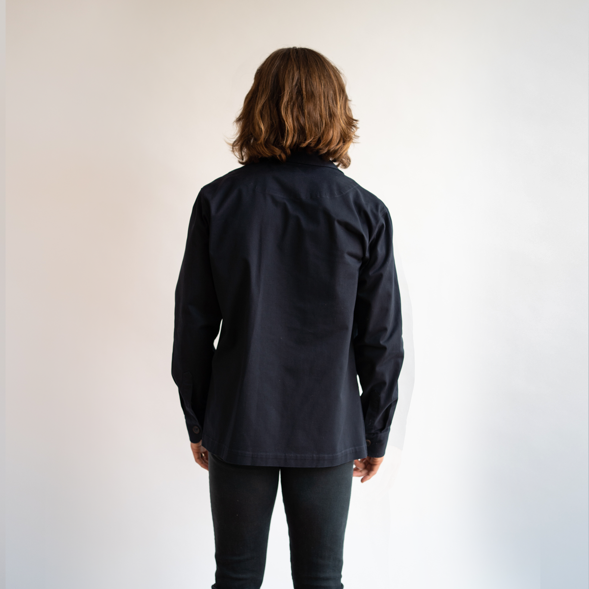 Navy Stretch Chore Coat
