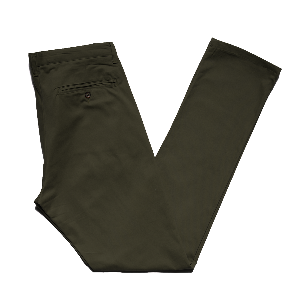 Olive Brushed Japanese Twill Chino