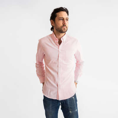 Men's Pink Service Oxford