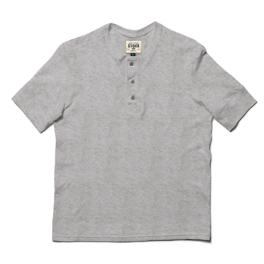 Heather Gray Short Sleeve Henley
