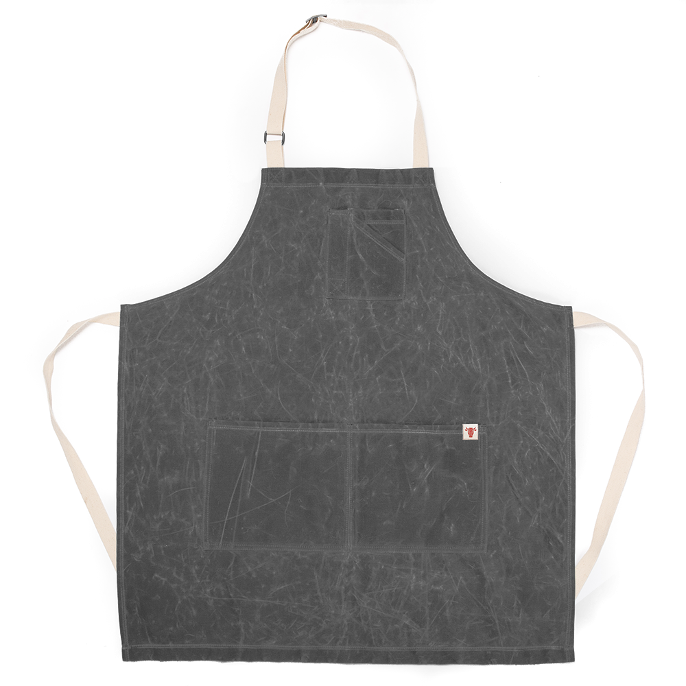 Gray Waxed Canvas Stock Apron