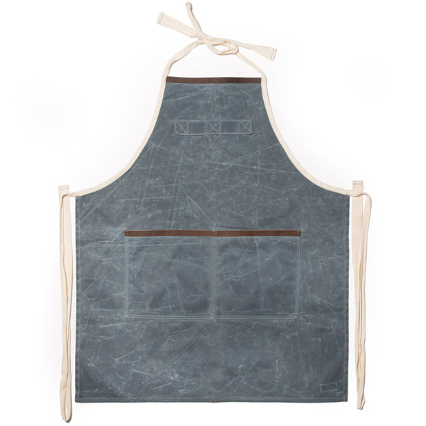 Gray Waxed Cotton Apron