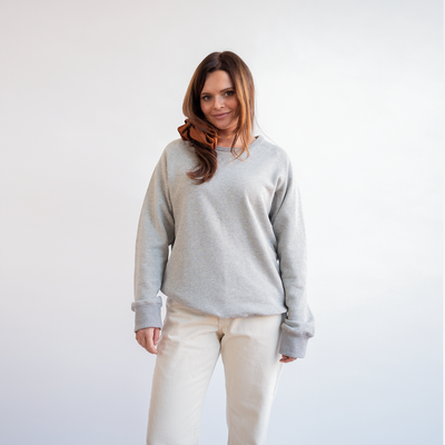 Heather Gray Crewneck Service Sweatshirt
