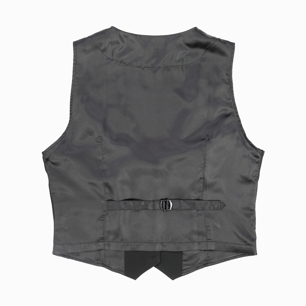 Women's Single Breasted Black Waistcoat