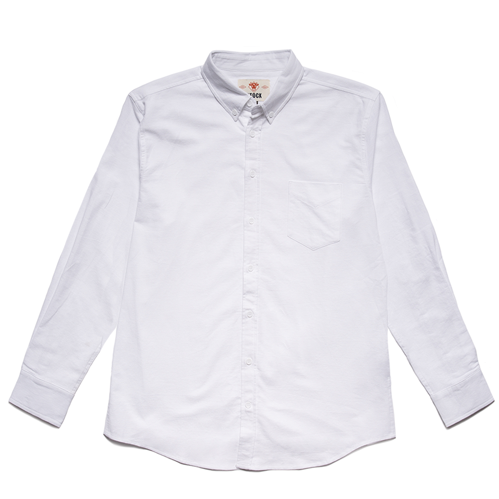 Men's White Service Oxford