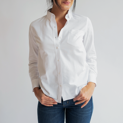 New Women's White Service Oxford