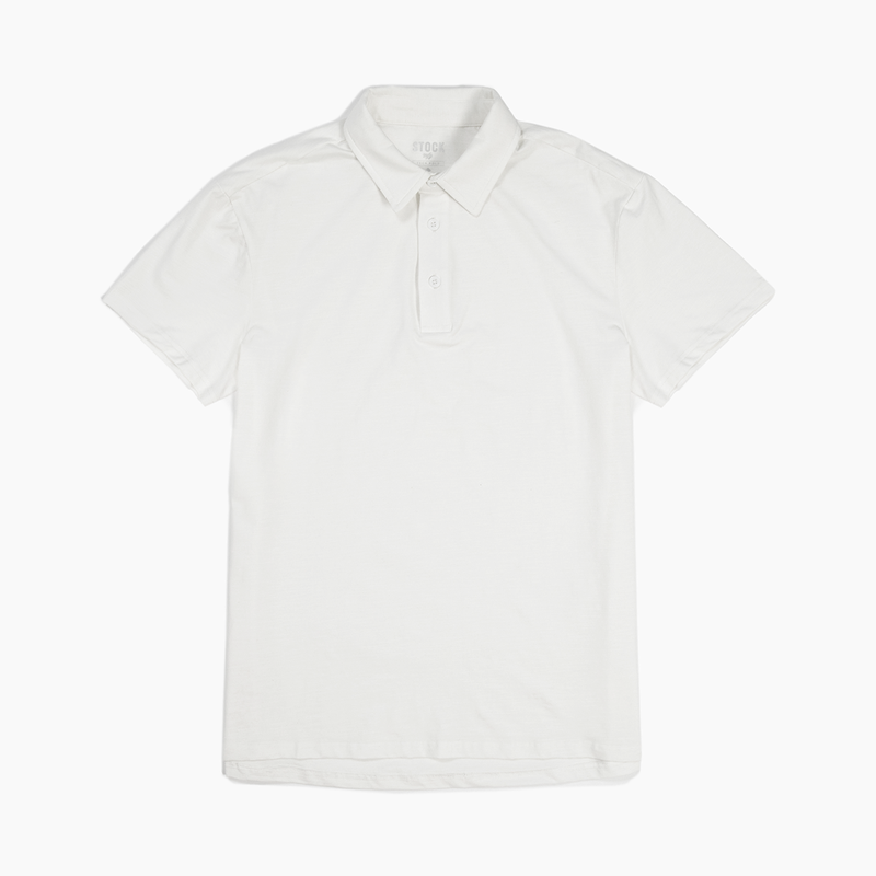 Men's White Technical Polo