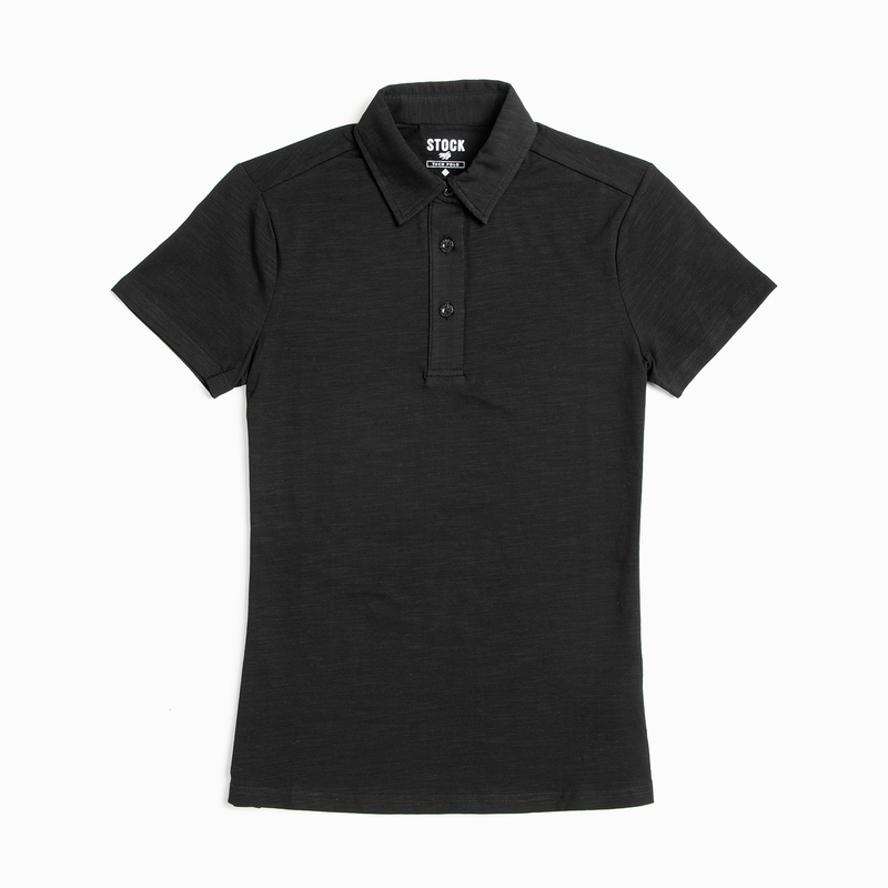 Women's Black Technical Polo