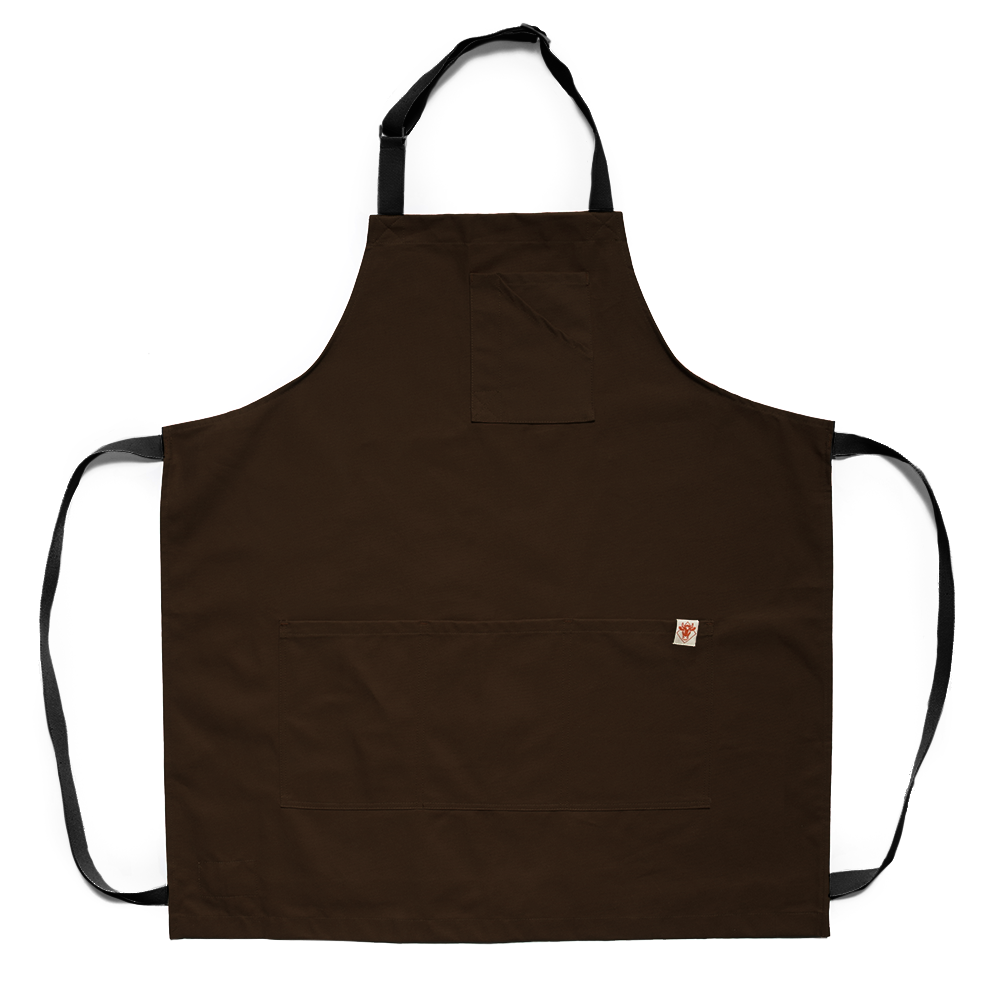 Brown Twill Stock Apron
