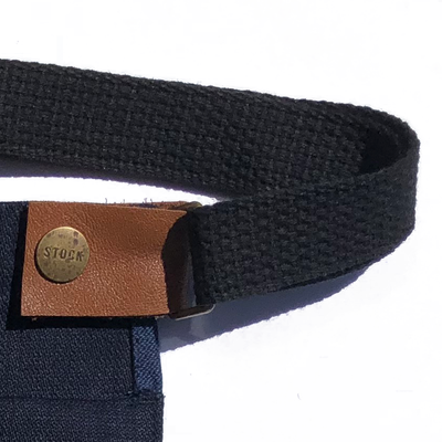 Denim Waist Pouch w/ Pocket and Strap