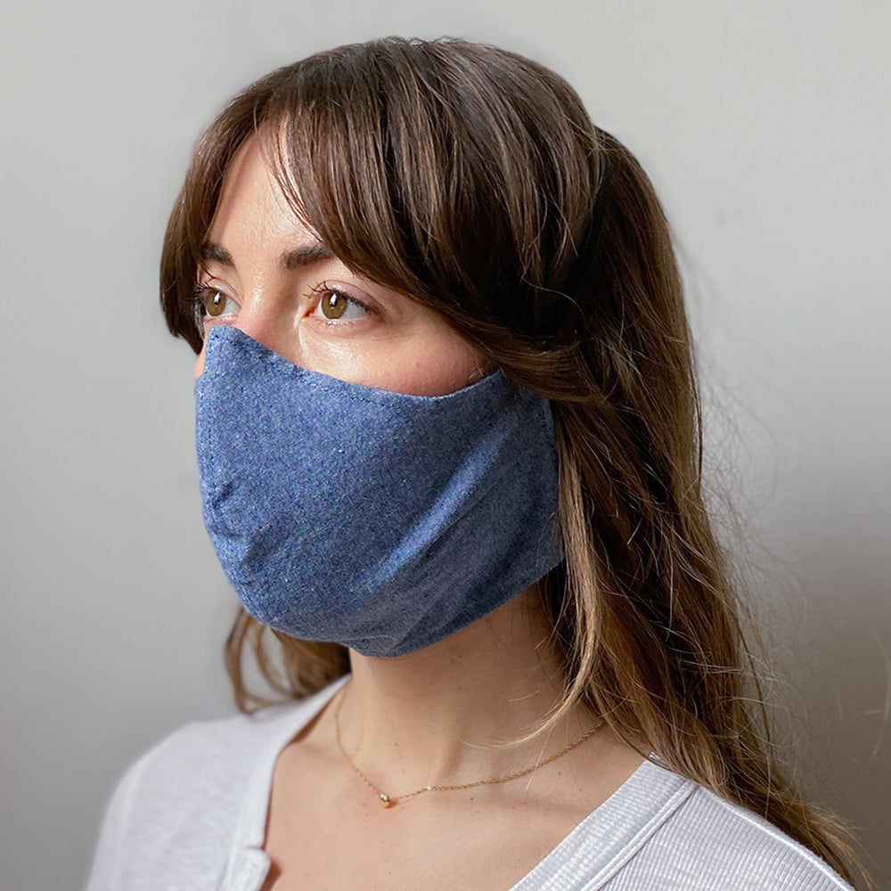 Blue Chambray Washable Face Mask
