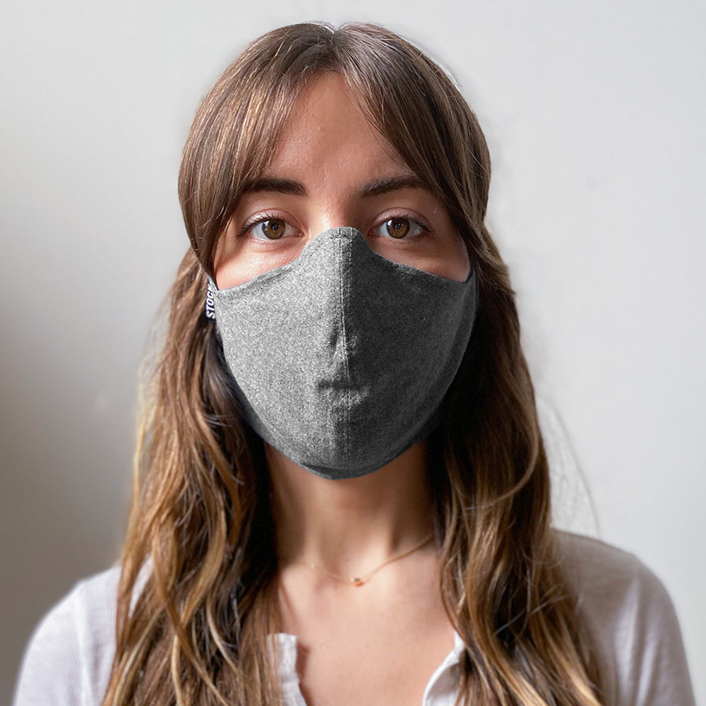 Gray Chambray Washable Face Mask
