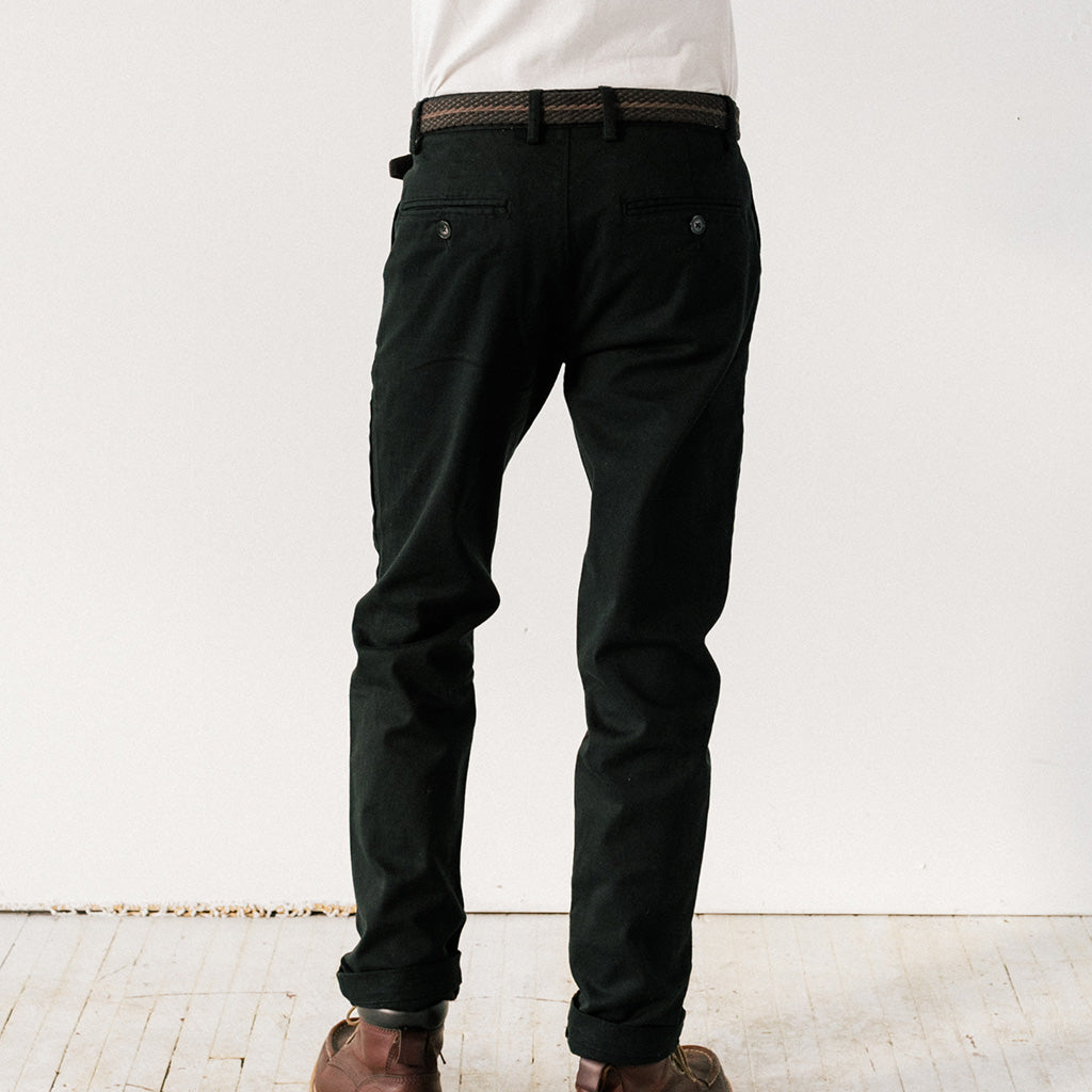 Mens Black Stretch Service Chino