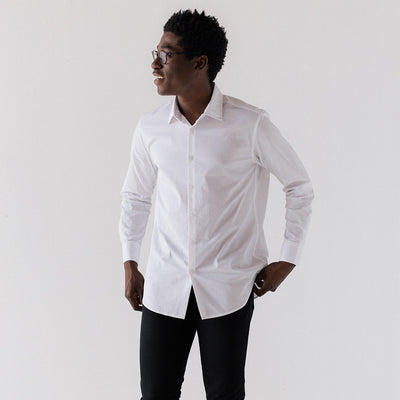 Men's White Service Dress Shirt