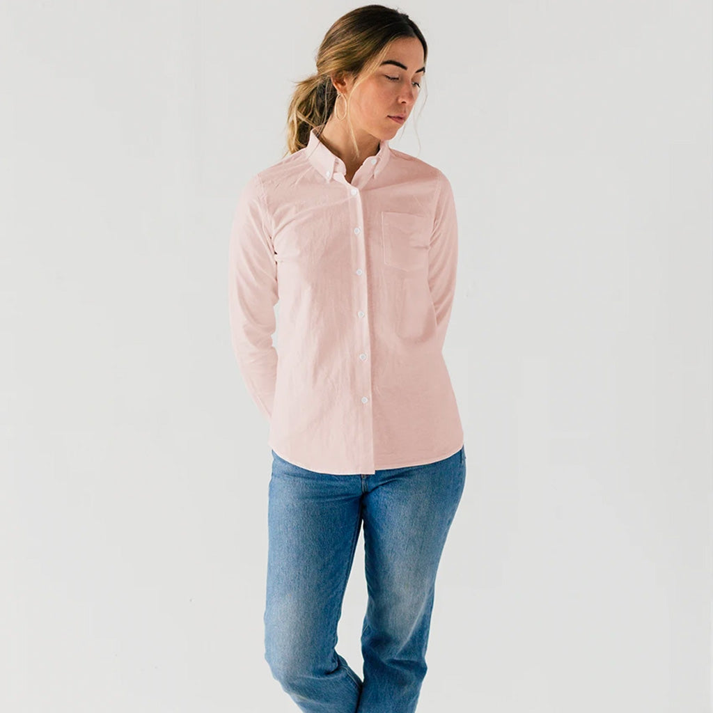 Womens Pink Service Oxford